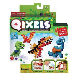 Mini kit 4 créations Qixels (Théme Dinosaures) - SAISON 3