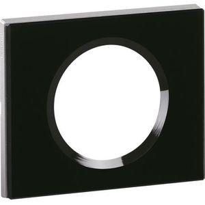 LEGRAND Plaque Céliane finition verre graphite pour 1 poste - Noir graphite