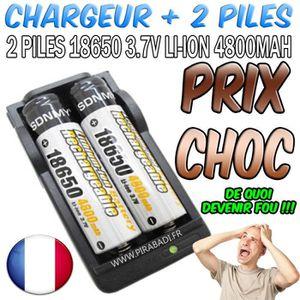 CHARGEUR DE PILES 2 PILES ACCU RECHARGEABLE PRO 18650 3.7v 4800mAH S