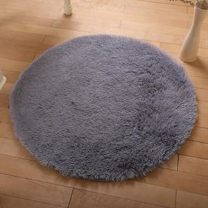 tapis rond gris achat vente tapis rond gris pas cher cdiscount. Black Bedroom Furniture Sets. Home Design Ideas