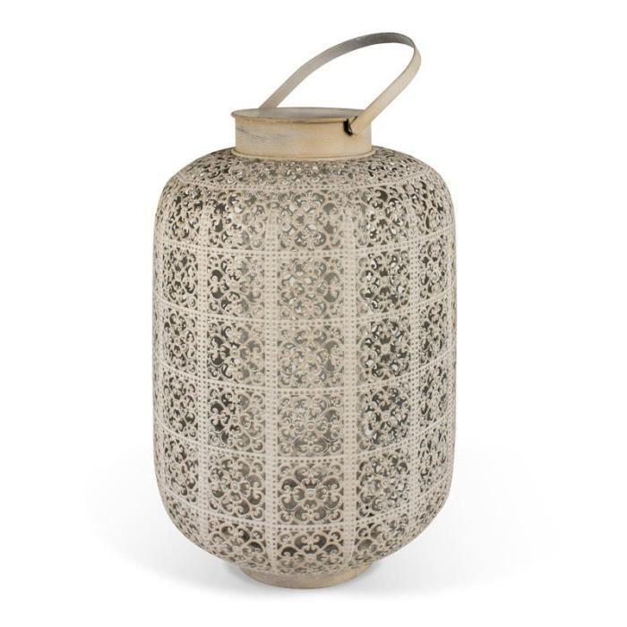 Atipico jacquard vieux lanterne avec porte bougie en - Porte bougie en verre ...