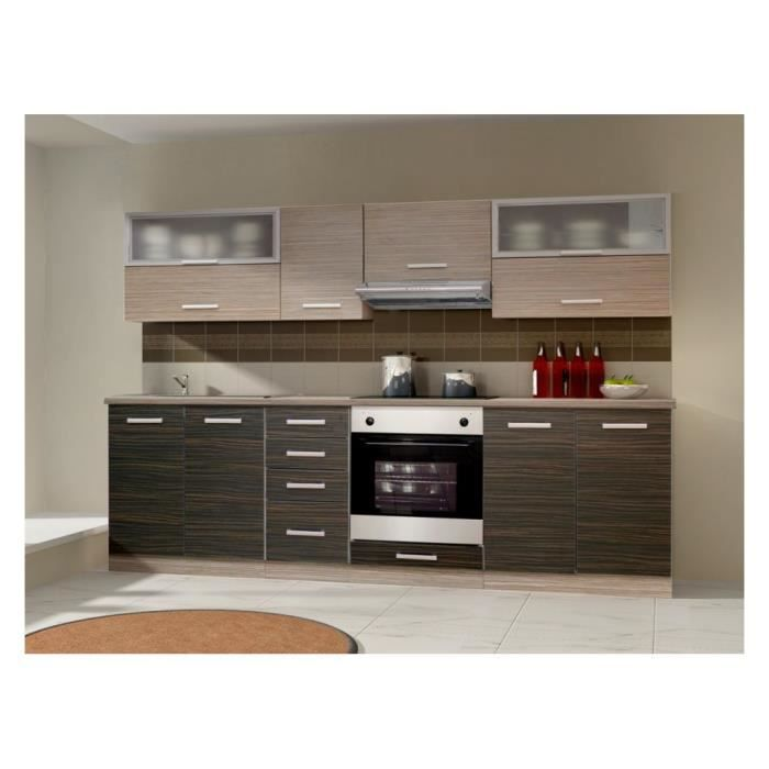 Cuisine complete limed 260 cm 8 elements achat vente for Cuisine complete