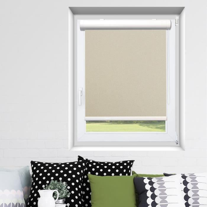 store enrouleur coffre easy roll occultant beige achat vente store de fen tre cdiscount. Black Bedroom Furniture Sets. Home Design Ideas