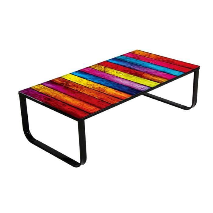 table basse rainbow achat vente table basse table basse rainbow cdiscount. Black Bedroom Furniture Sets. Home Design Ideas