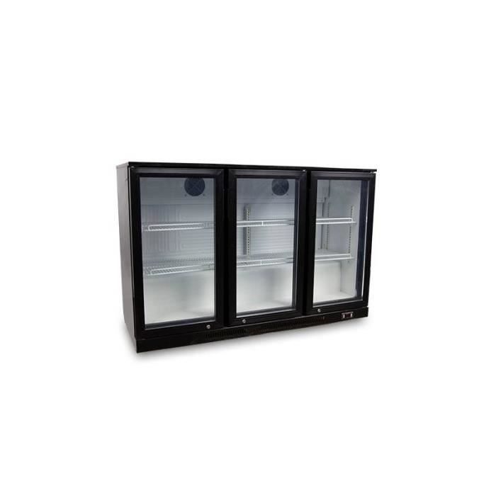 frigo de bar 3 portes vitr es 330 litres 230v. Black Bedroom Furniture Sets. Home Design Ideas