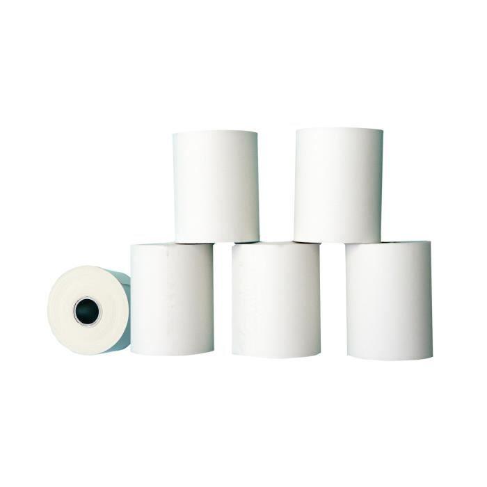Bobines rouleau papier thermiques cb l 57 mm diam achat for Bureau rouleau