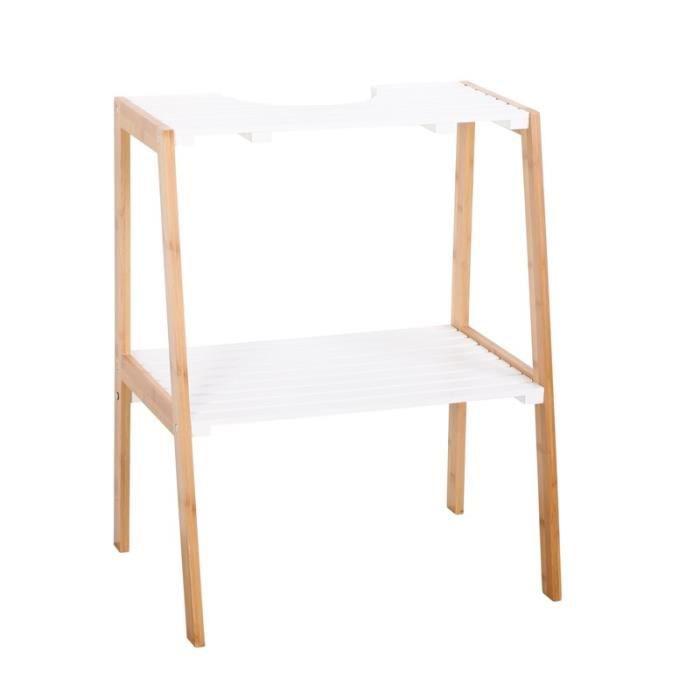 Paris prix meuble sous lavabo bambou naturel achat for Meuble par nature