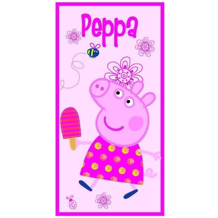 Serviette de bain drap de plage peppa pig achat - Peppa cochon a la plage ...