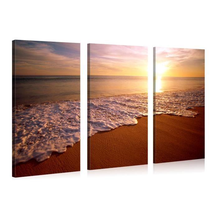 Tableau photo sur toile plage harmonie 120x80cm achat for Tableau impression sur toile