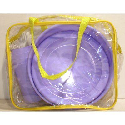 sac pique nique 22 p plastique avec saladier achat vente set vaisselle jetable sac pique. Black Bedroom Furniture Sets. Home Design Ideas