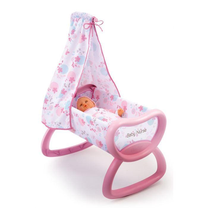 smoby baby nurse berceau bercelonnette achat vente accessoire poupon cdiscount. Black Bedroom Furniture Sets. Home Design Ideas