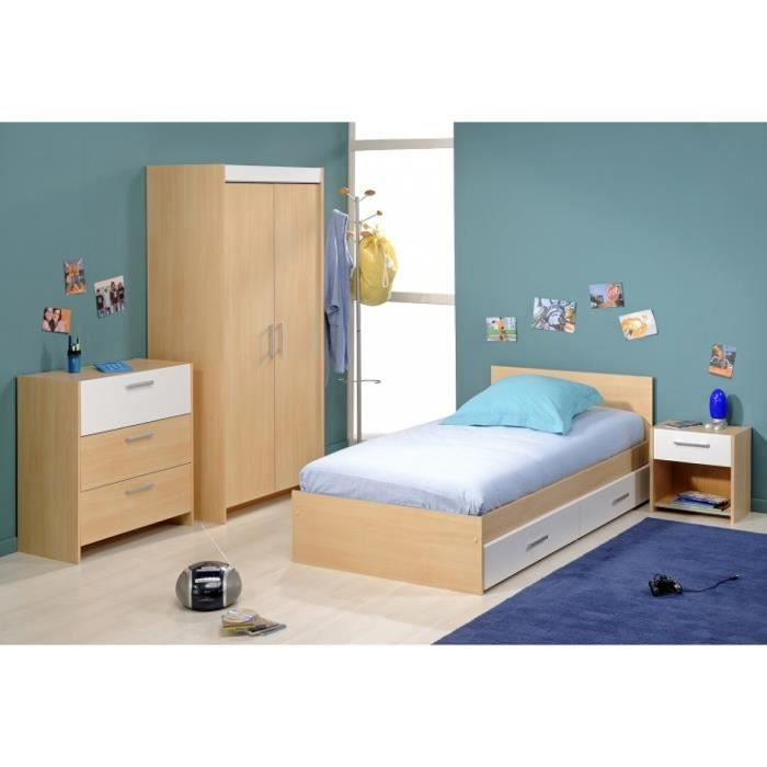 Chambre compl te enfant 90x200 enzo achat vente lit for Achat chambre complete