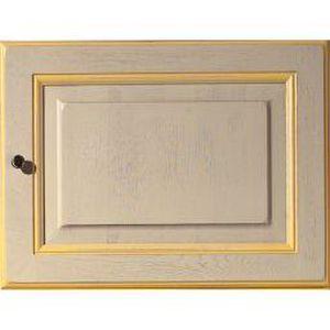 Facade 45x60 1porte provencale rechampie jaune achat for Facade cuisine jaune