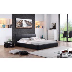 lit 180x200 avec rangement achat vente lit 180x200 avec rangement pas cher soldes cdiscount. Black Bedroom Furniture Sets. Home Design Ideas