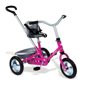 TRICYCLE SMOBY Tricycle en métal Fille Zooky Rose