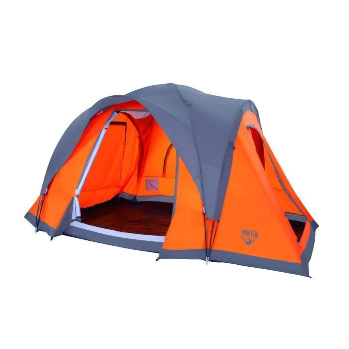 pavillo tente campbase 6 places prix pas cher cdiscount. Black Bedroom Furniture Sets. Home Design Ideas