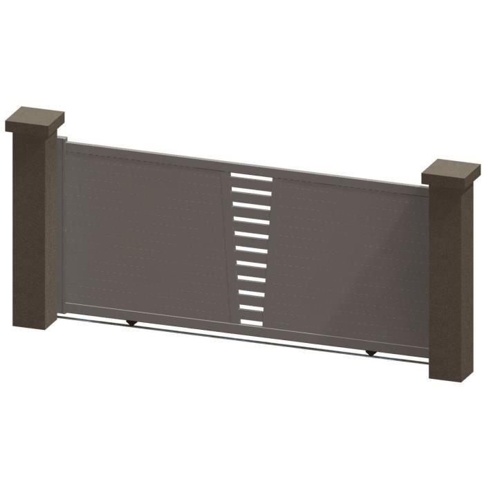 portail coulissant en aluminium daya blanc 3 5m manuel autour du portail achat vente. Black Bedroom Furniture Sets. Home Design Ideas