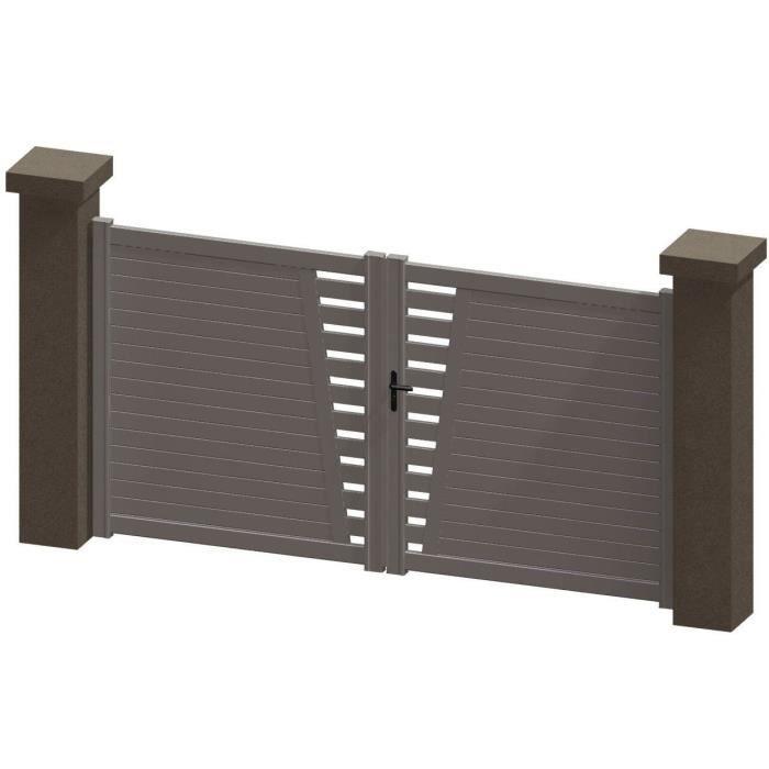 portail battant en aluminium daya blanc 3 5m manuel autour du portail achat vente portail. Black Bedroom Furniture Sets. Home Design Ideas