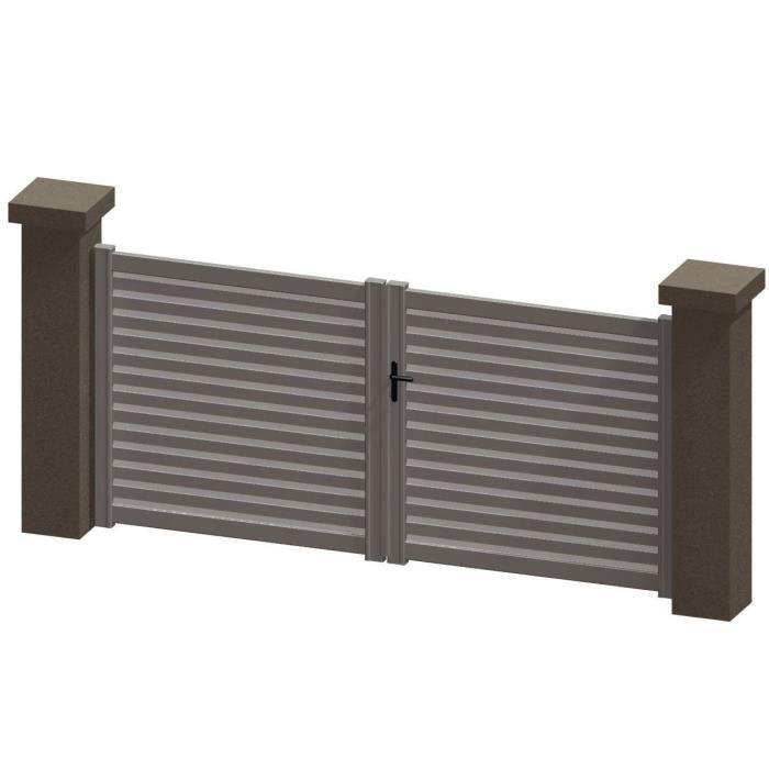 portail battant en aluminium indy blanc 3m manuel achat vente portail portillon portail. Black Bedroom Furniture Sets. Home Design Ideas