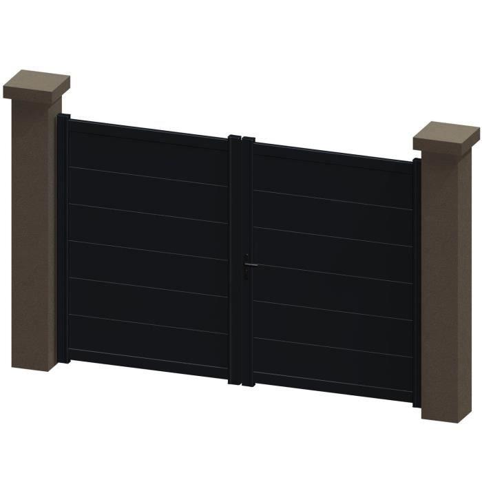 portail battant en aluminium kali gris 3m manuel autour du portail achat vente portail. Black Bedroom Furniture Sets. Home Design Ideas