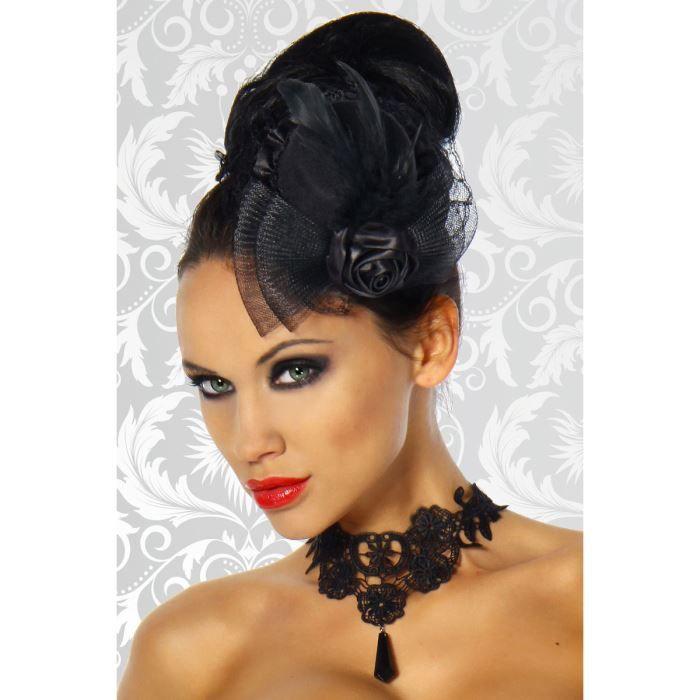 petit chapeau voilette plumes avec rose mariage noir achat vente chapeau bob 2009989691016. Black Bedroom Furniture Sets. Home Design Ideas
