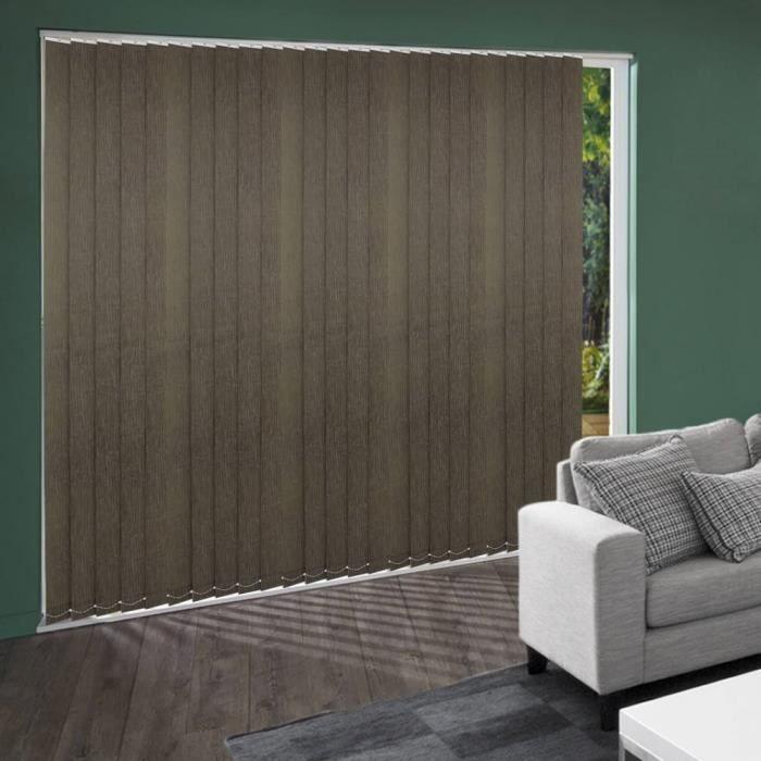 lamelles verticales fibre chocolat tamisant achat vente rideau cadeaux de no l cdiscount. Black Bedroom Furniture Sets. Home Design Ideas