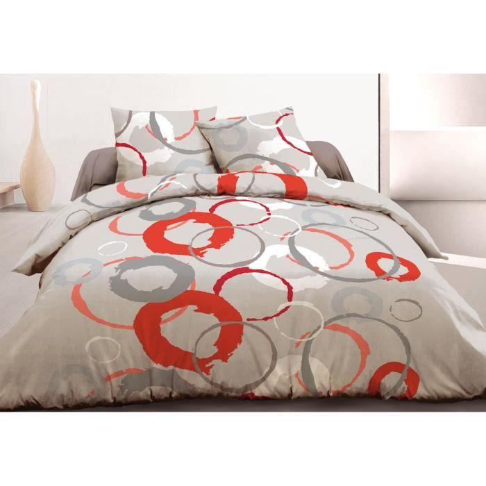 housse de couette 240x260 2 taies coton 57 fils achat. Black Bedroom Furniture Sets. Home Design Ideas