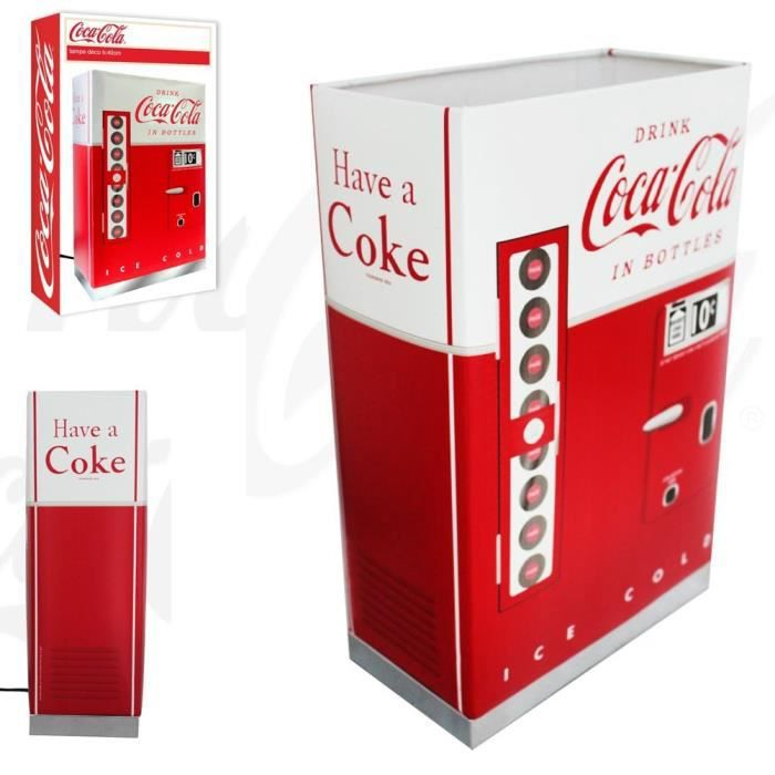 Lampe coca cola distributeur boissons achat vente for Meuble a boisson