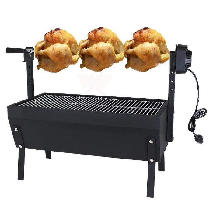 barbecue grill pro acier broche 220 volt poulet r ti grille achat vente barbecue barbecue. Black Bedroom Furniture Sets. Home Design Ideas