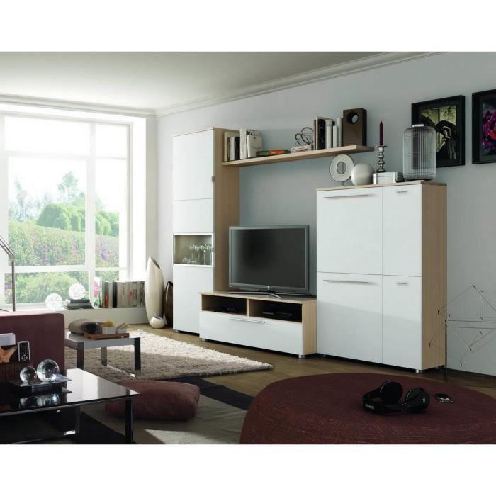 ensemble bibliotheque meuble tv vitre s avec achat vente biblioth que mob tv. Black Bedroom Furniture Sets. Home Design Ideas
