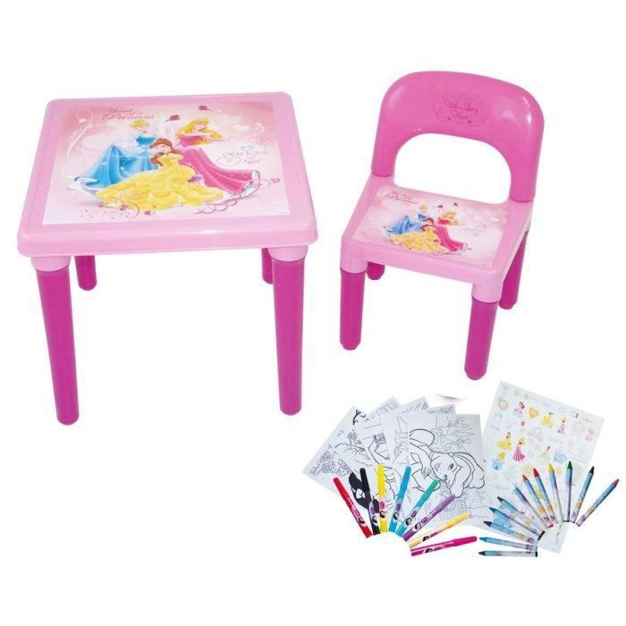 disney princess 1 table d 39 activit 1 chaise 1 set de coloriage art craft comprenant 35. Black Bedroom Furniture Sets. Home Design Ideas