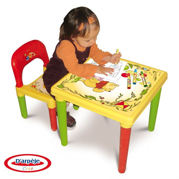 Table rabattable cuisine paris table et chaise winnie l - Table et chaise winnie l ourson ...