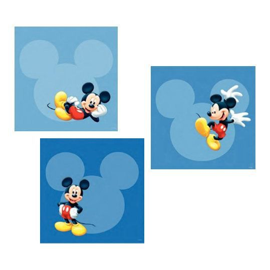 Stickers mickey 30 x 30 cm achat vente stickers for Stickers mickey chambre