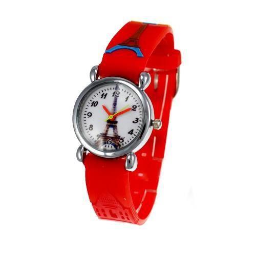 Montre enfant tour eiffel bracelet rouge achat vente montre cdiscount - Prix montee tour eiffel ...