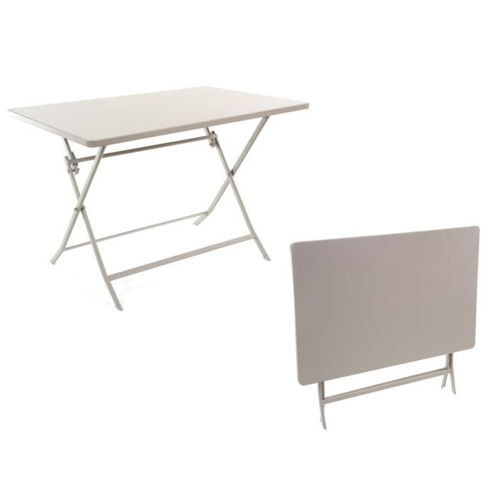 Table rectangulaire greensboro pliante 110 x 70 x71cm for Table pliante 6 personnes