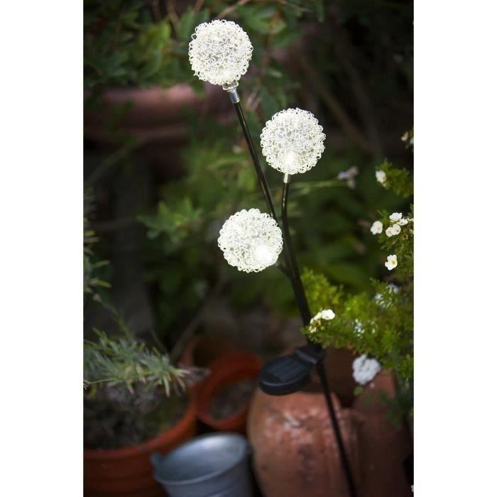 Galix lanterne solaire 3 boules achat vente lanterne solaire 3 boules en plastique m tal et - Eclairage exterieur solaire boule ...