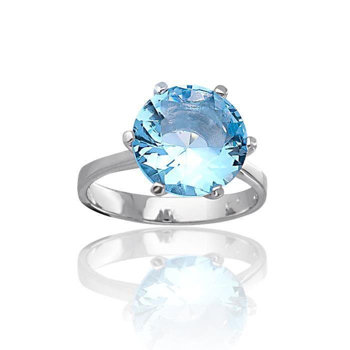 bague argent pierre bleu clair or or achat vente bague anneau bague argent 925 1000. Black Bedroom Furniture Sets. Home Design Ideas
