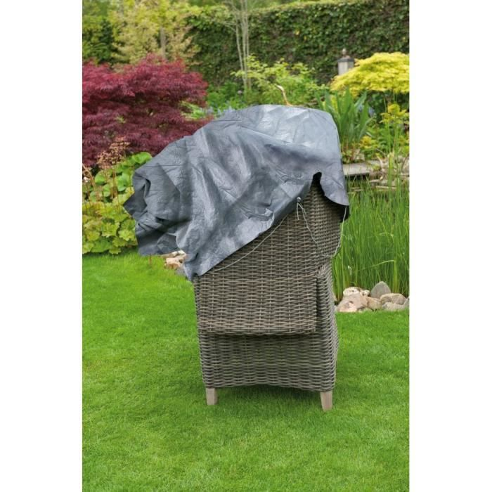 Housse de protection pour deux fauteuils de jardin empil s achat vente housse meuble jardin for Housse de relax de jardin
