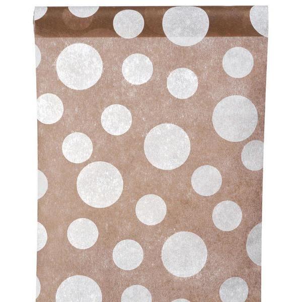 Chemin de table a pois chocolat achat vente chemin de for Chemin de table a pois