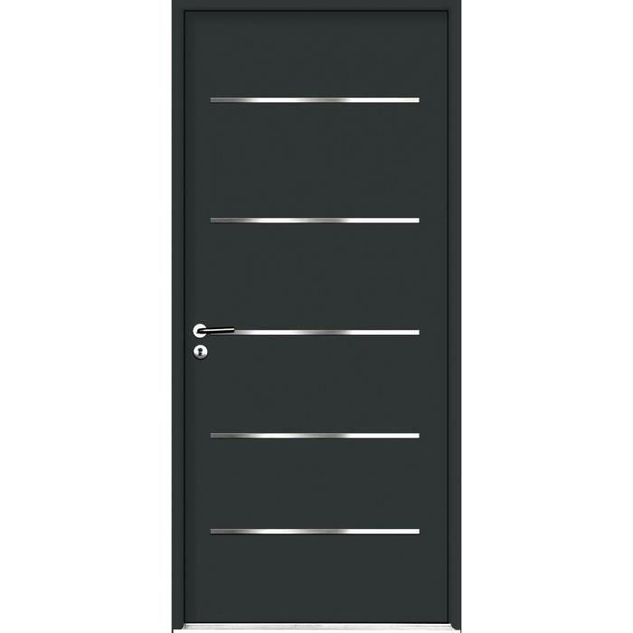 porte d 39 entr e en acier surcouf 2 15 x 0 90 m sans tap e. Black Bedroom Furniture Sets. Home Design Ideas