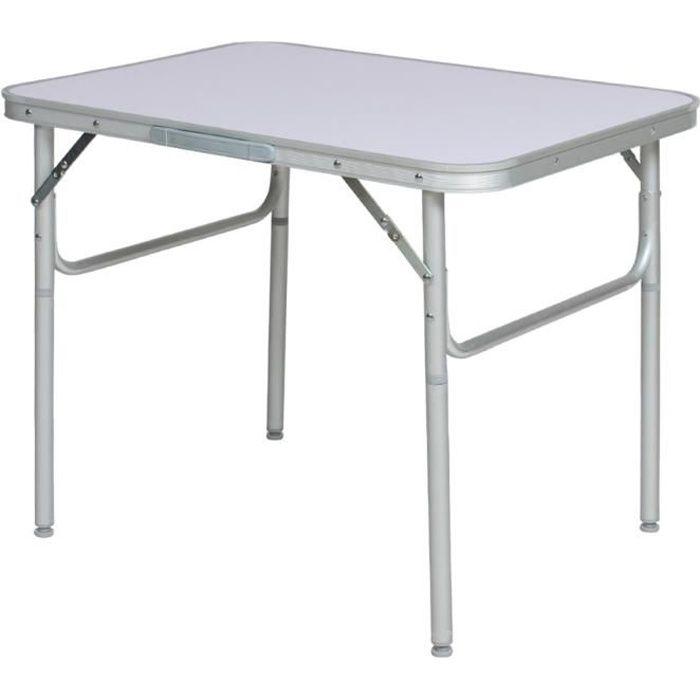 table de camping aluminium pliante tectake prix pas cher. Black Bedroom Furniture Sets. Home Design Ideas