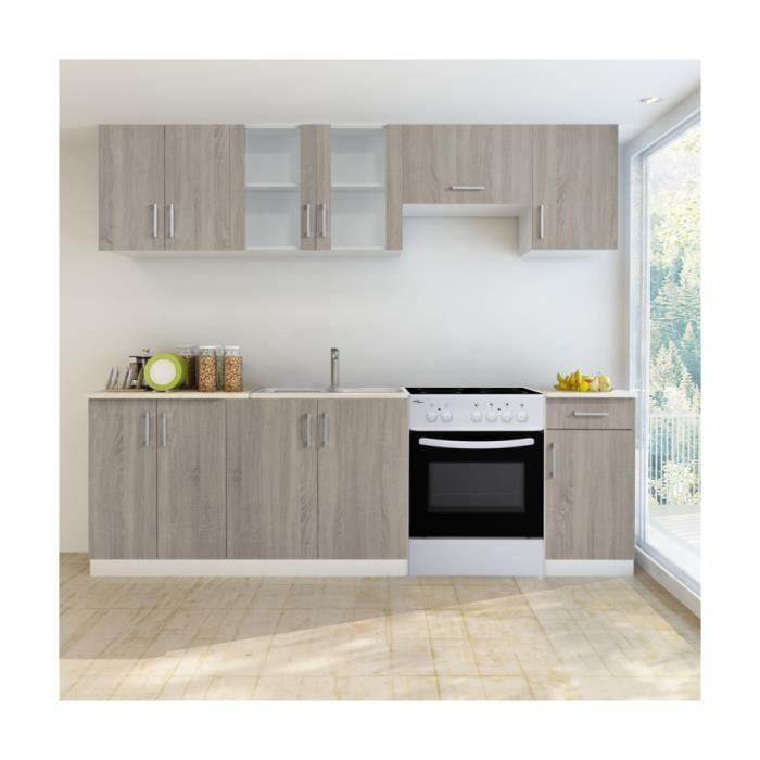 superbe bloc armoires de cuisine couleur ch ne 7 pcs avec. Black Bedroom Furniture Sets. Home Design Ideas