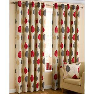 rideaux rouges et gris achat vente rideaux rouges et gris pas cher cdiscount. Black Bedroom Furniture Sets. Home Design Ideas
