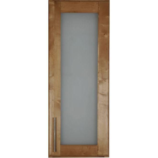 Facade 1porte vitree tendance vernie achat Facade meuble cuisine largeur 50