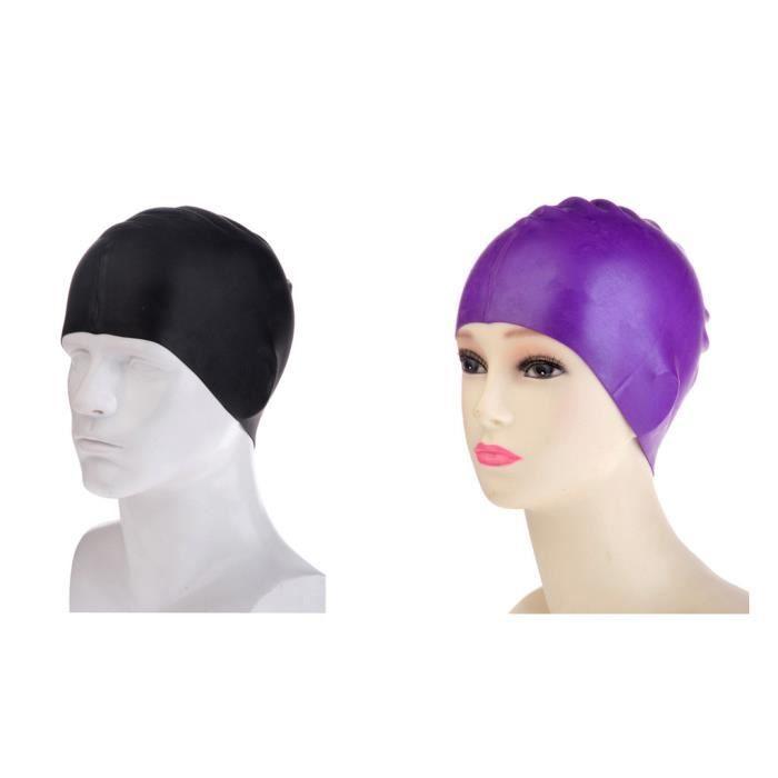 bonnets de bain en silicone pour cheveux longs pour homme et femme adulte 2 pi ces b prix. Black Bedroom Furniture Sets. Home Design Ideas