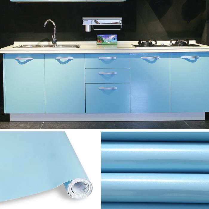 Rouleau de 5m auto adh sif stickers de cabinet cuisine for Rouleau autocollant miroir