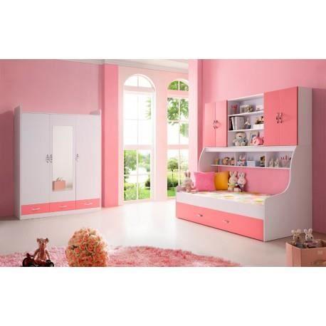 Chambre enfant rose avec armoire 3 portes doremi achat for Achat armoire chambre
