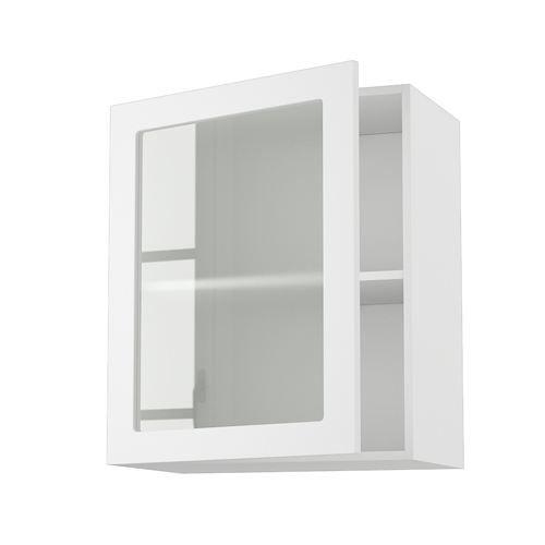 Meuble cuisine mural 60cm 1 porte vitree 60 70 achat for Meuble cuisine haut et bas