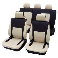 housses elegance beige noir 207 cc 07 achat vente housse de si ge housses elegance beige. Black Bedroom Furniture Sets. Home Design Ideas