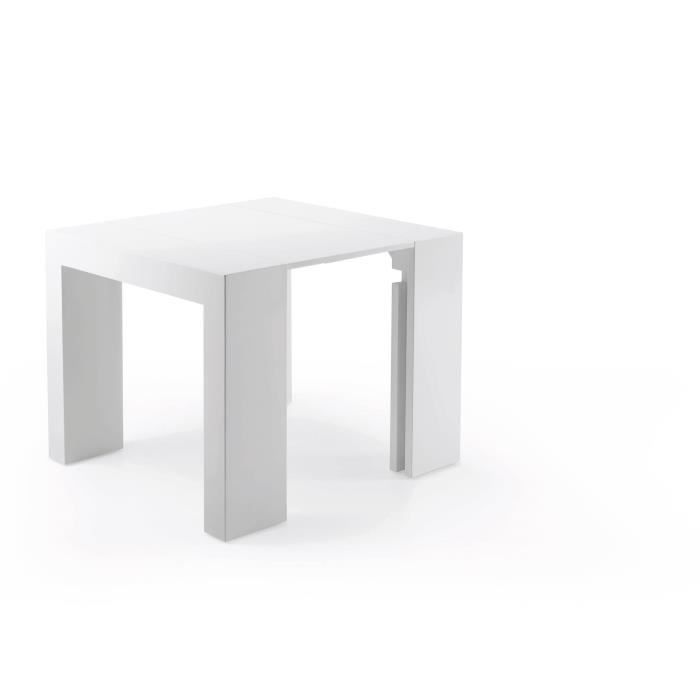 Table extensible aden blanc achat vente table a manger seule table extensible aden blanc - Table extensible cdiscount ...